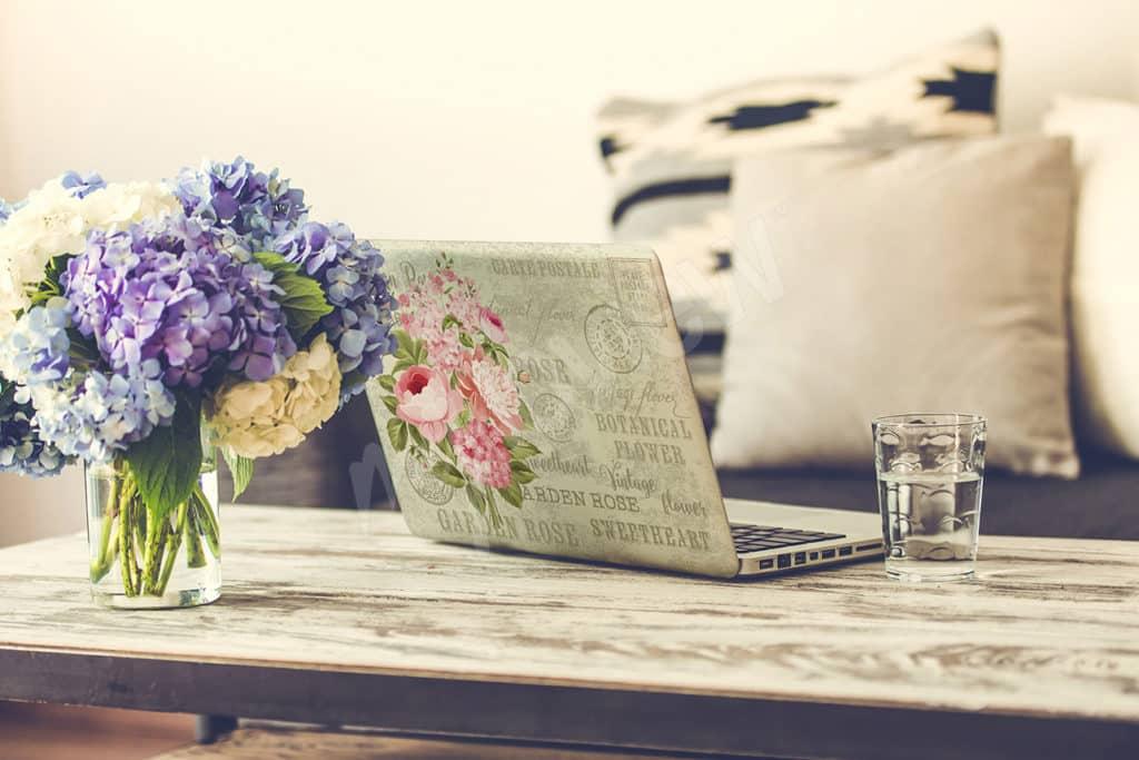 sticker portable fleurs
