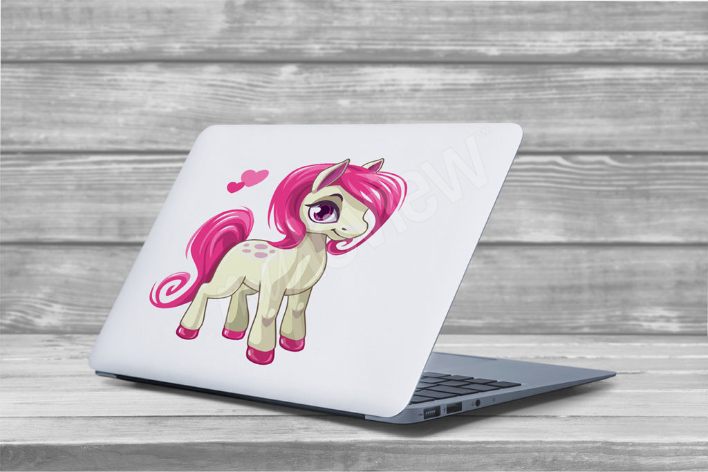 sticker laptop poney