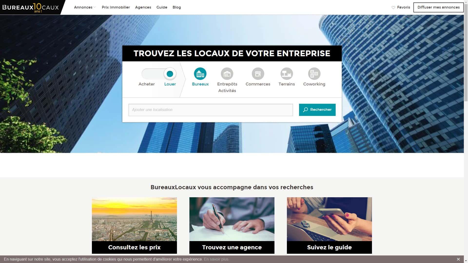 Le marché de l'immobilier d'entreprise en ligne avec BureauxLocaux