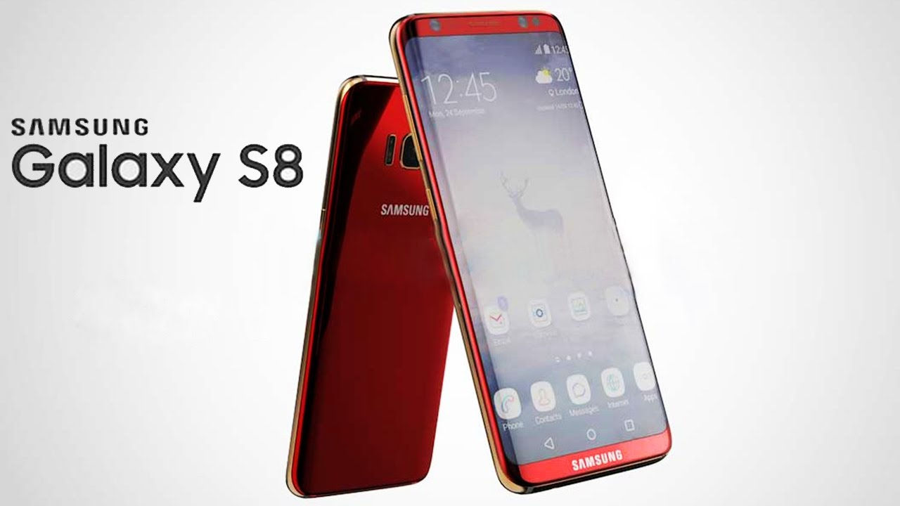 samsung s8 rouge